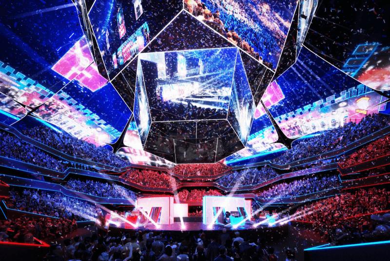 Uma competição de eSports em 2019