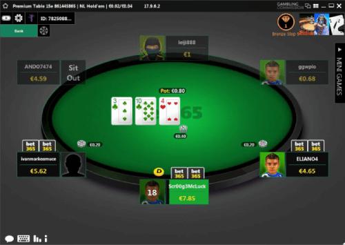 Poker na Bet365 no desktop